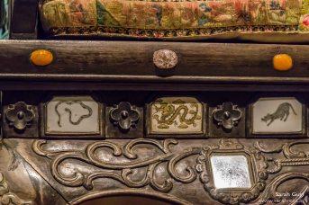 Details vom Sessel der Königin