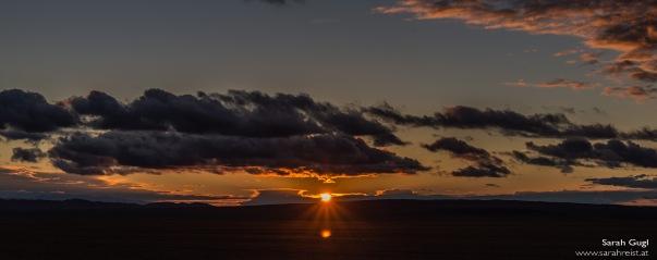 Der Versuch, einen Sonnenuntergang festzuhalten...