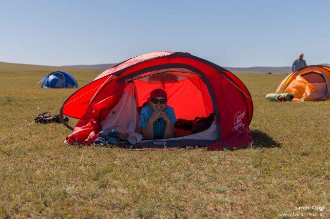 Anstatt ein Ger-Foto gibt es dieses Mal ein Zelt-Foto