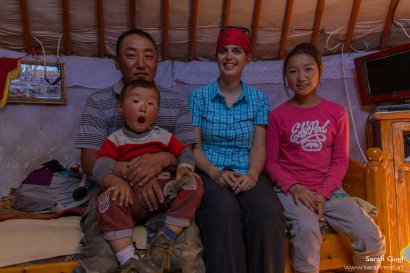 Foto mit der Familie